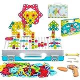 iTokGok 3 in 1 Trendy Bits Drill Puzzle ,249PCS STEM Engineering Toys,Electric DIY Drill Educational Set, Design…