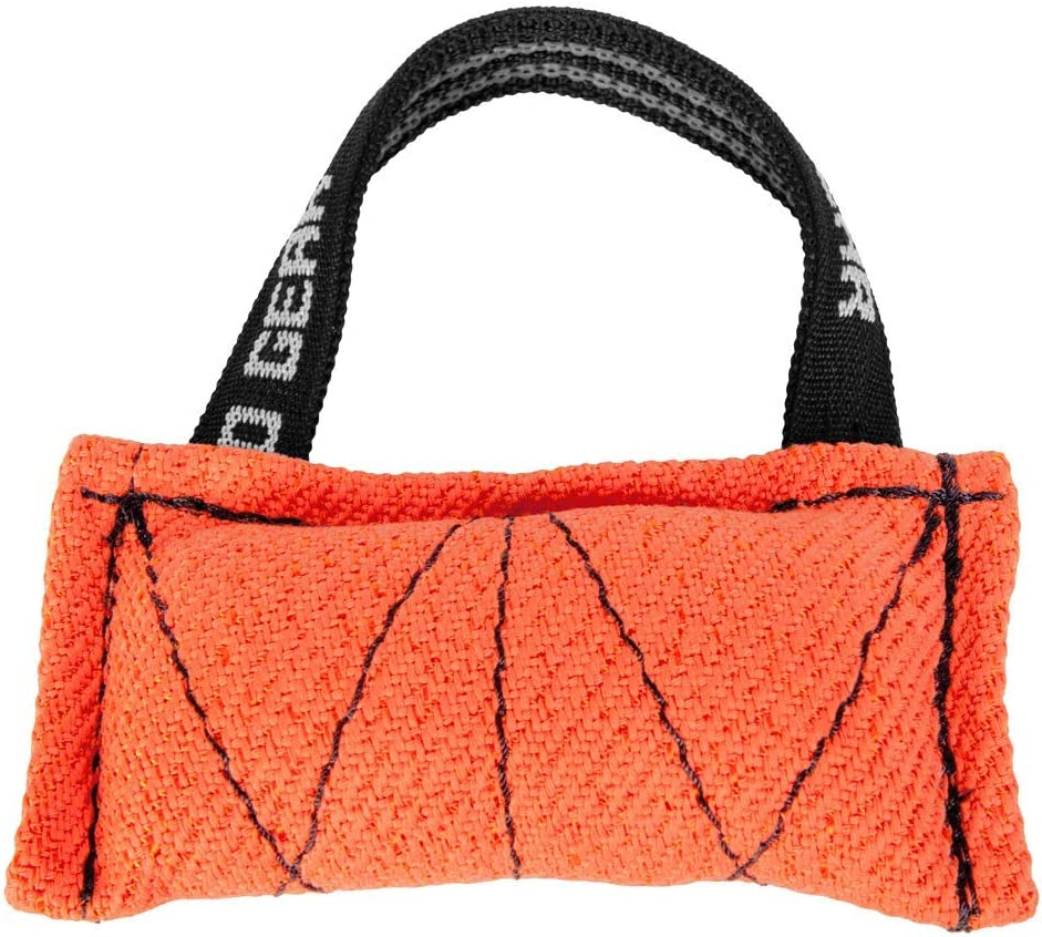 Dingo Gear Baumwolle-Nylon Bei/ßwurst f/ür Hundetraining Piccolo 8x15 cm Orange S00699