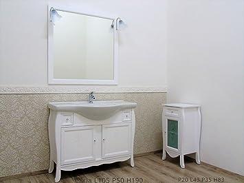 Le Chic Mueble baño Blanco Mate con tallar con Mueble Porta Toallas: Amazon.es: Hogar