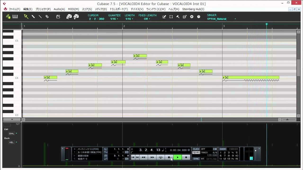 VOCALOID4 Editor for Cubase