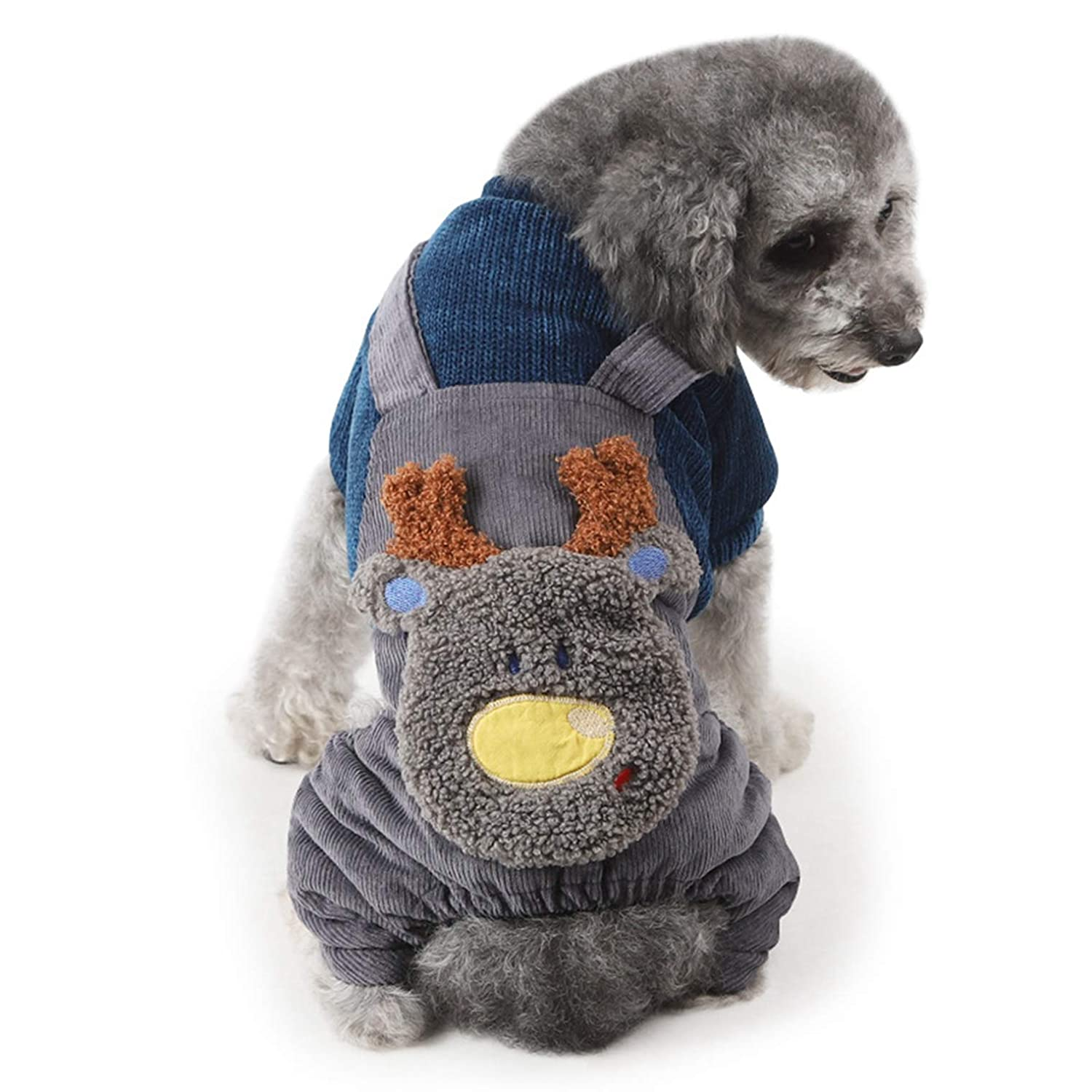 blueE XL blueE XL SENERY Winter Pet Dog Clothing Coat,Thicken Knitted Pet Fake Rompers Warm Dog Coat Jacket Jumpsuit Outfit