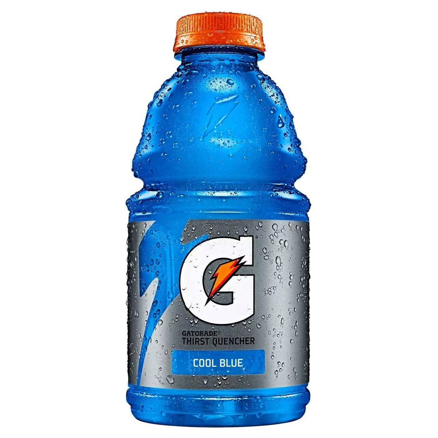 Gatorade Cool Blue, Blue, Thirst Quencher Sports Drink, 32oz Bottle (Pack of 8, Total of 256 Oz)