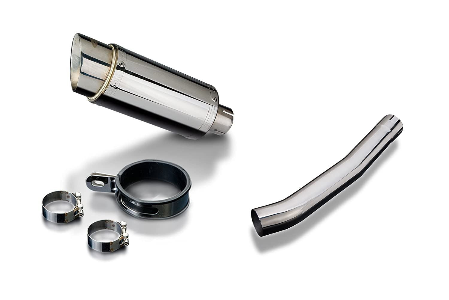 YZFR6 1998-2002 200mm STAINLESS RACE SILENCER KIT EXHAUST Delkevic