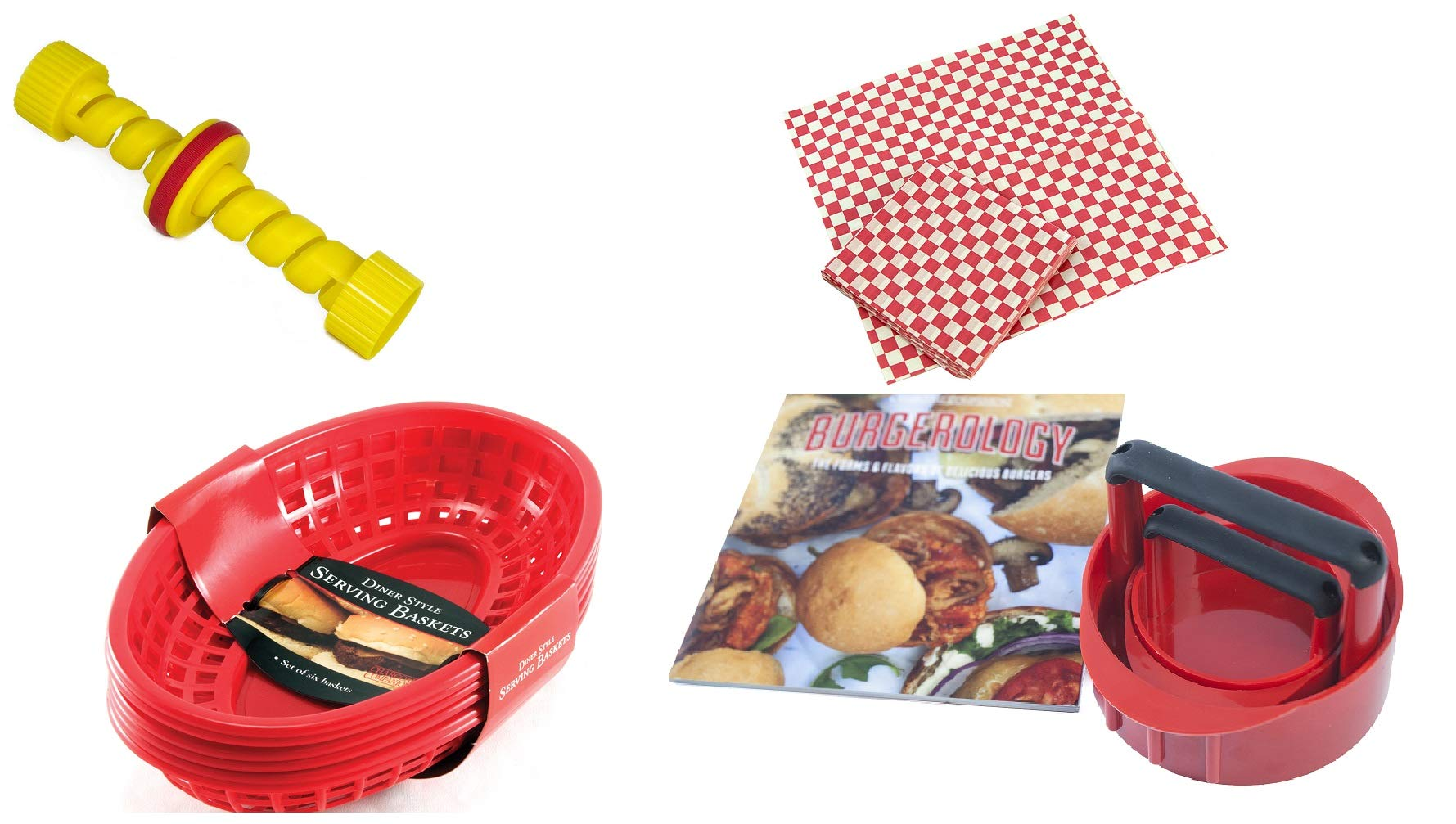 Charcoal Companion CC6689 Burger & Hotdog BBQ Gift Bundle Grill Accessories