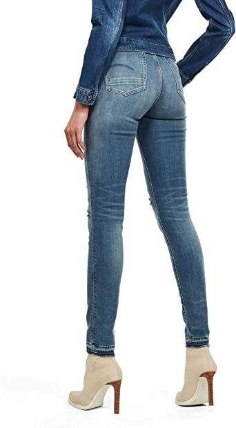 G-Star Raw Kafey Ultra High Skinny Ripped Edge dżinsy damskie: Odzież