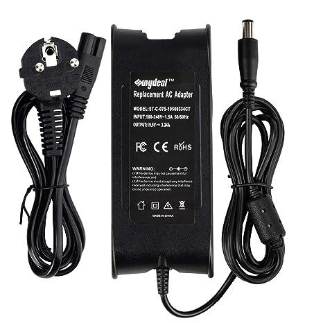 Sunydeal Cargador Adaptador 65W para Portátil Dell 19.5V -3.34A/5A, 7.4
