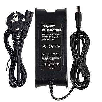 Sunydeal Cargador Adaptador 65W para Portátil Dell 19.5V -3.34A/5A, 7.4*5.0mm, Compatible con Dell Inspiron 13z 14z 14R 15R Latitude E5250 E5440 E5450 ...