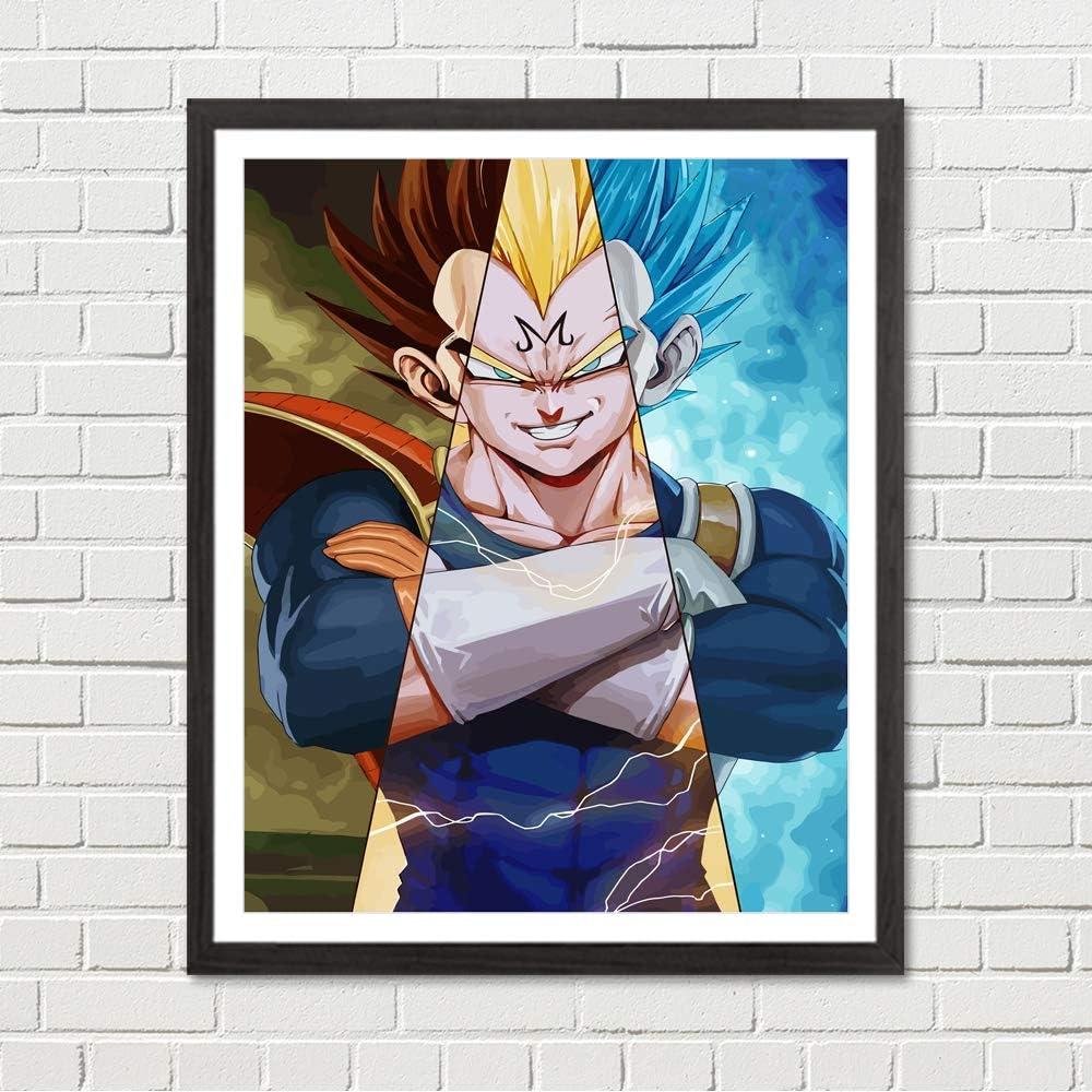 Japanese Manga Anime Dragon Ball Super and Z Poster Son Goku Saiyan Canvas Prints 8 x 10 inches Wall Art Decoration, No Frame