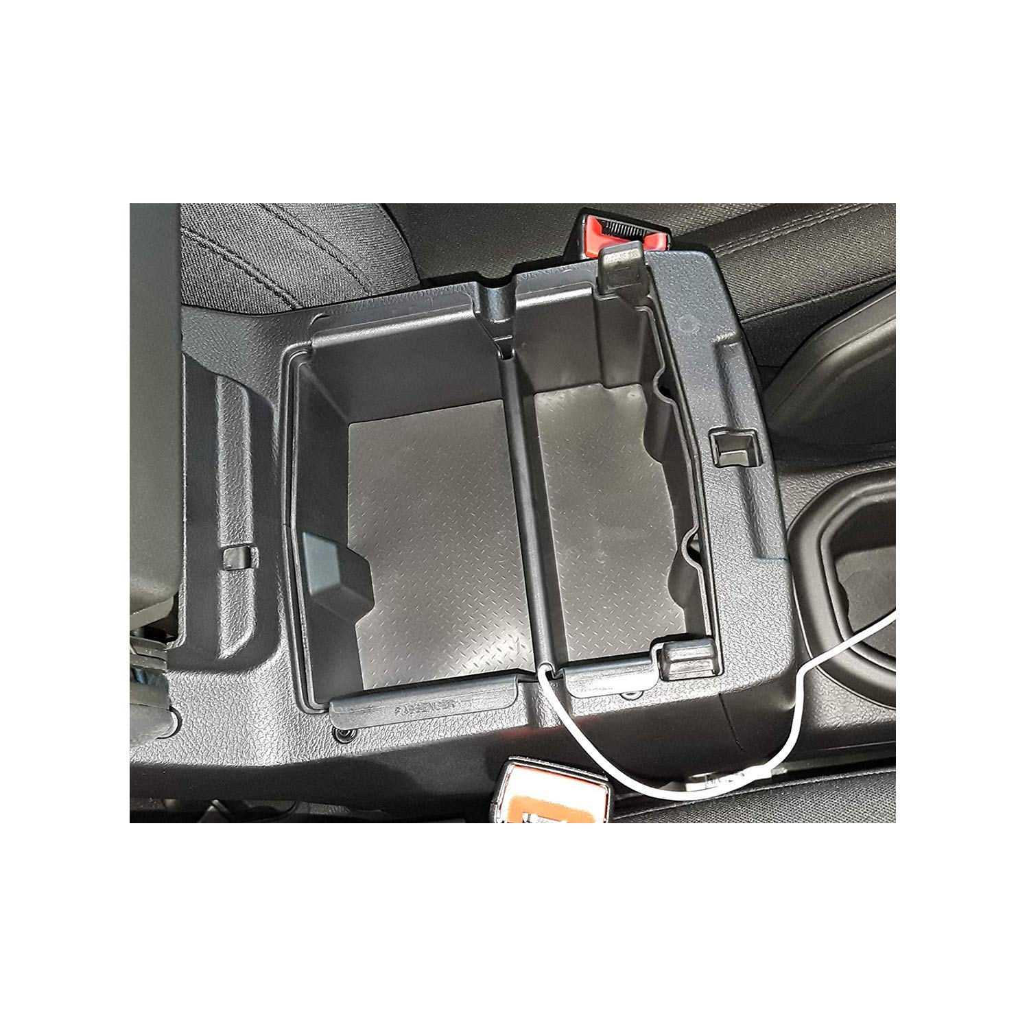 LFOTPP 2018 Jeep Gladiator Armrest Center Console Organizer Tray Accessories with Coin and Sunglass Holder,Secondary Storage Box Jeep Wrangler JL//JLU 2020