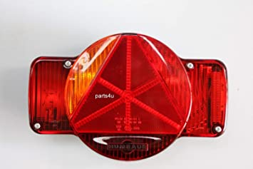 Rückleuchte Heckleuchte Humbaur Links Blinker Standlicht Bremse Nebelschlussleuchte 12v Pkw Anhänger 405 00001 Auto
