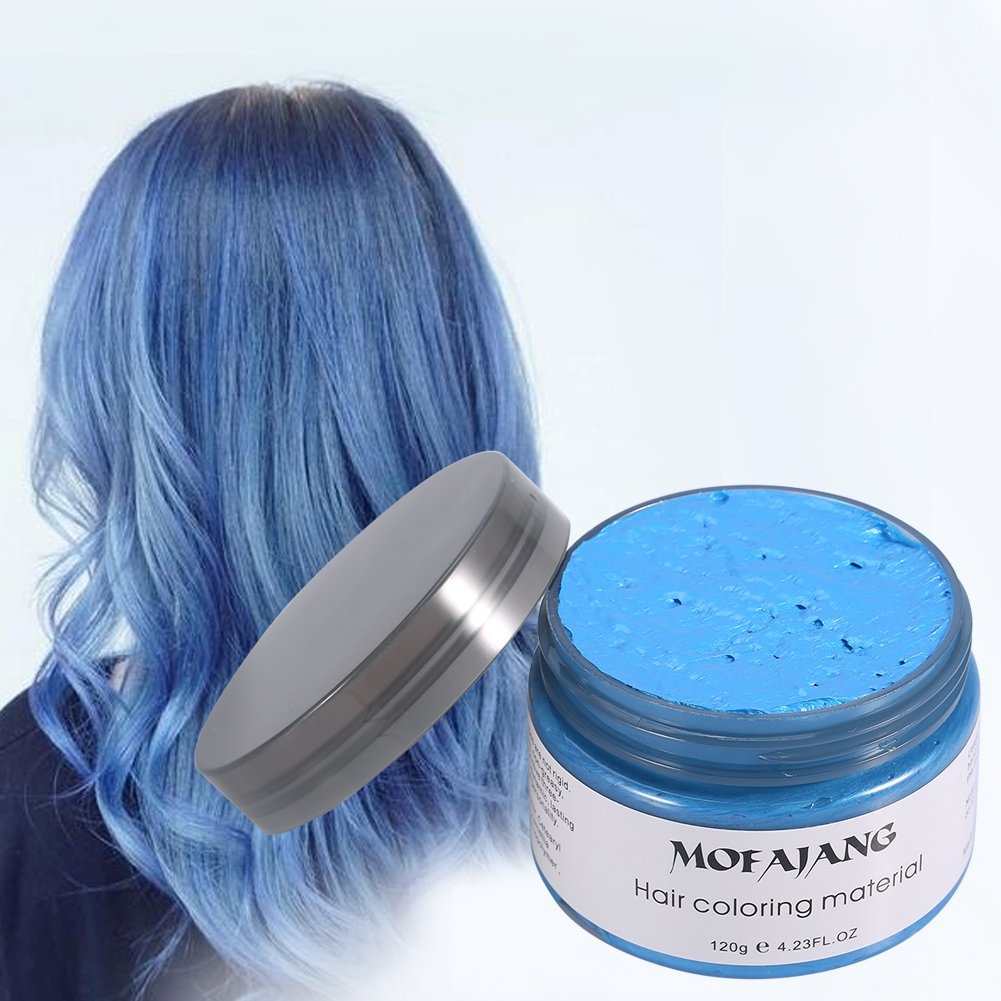 6 Colors Temporary Hair Colour Wax - Hair Styling Cream for Women Men (Granny Gray, White, Purple, Gold, Blue, Green) Yosoo