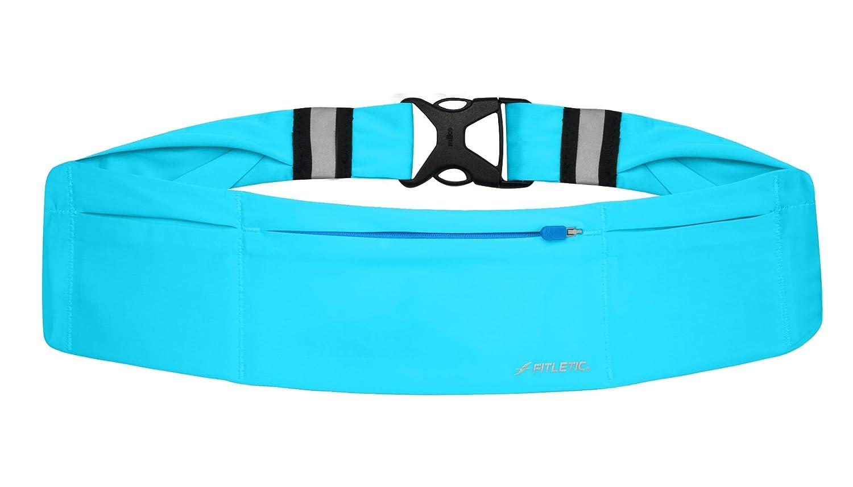 Fitletic Gürtel 360 ° neon 3 Wasserdichte Taschen – schwarz/türkis
