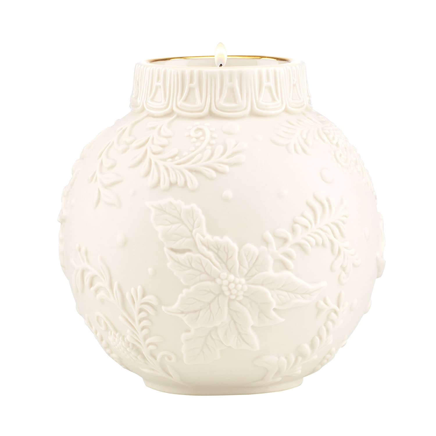 Lenox Ornamental Glow Poinsettia Votive Holder