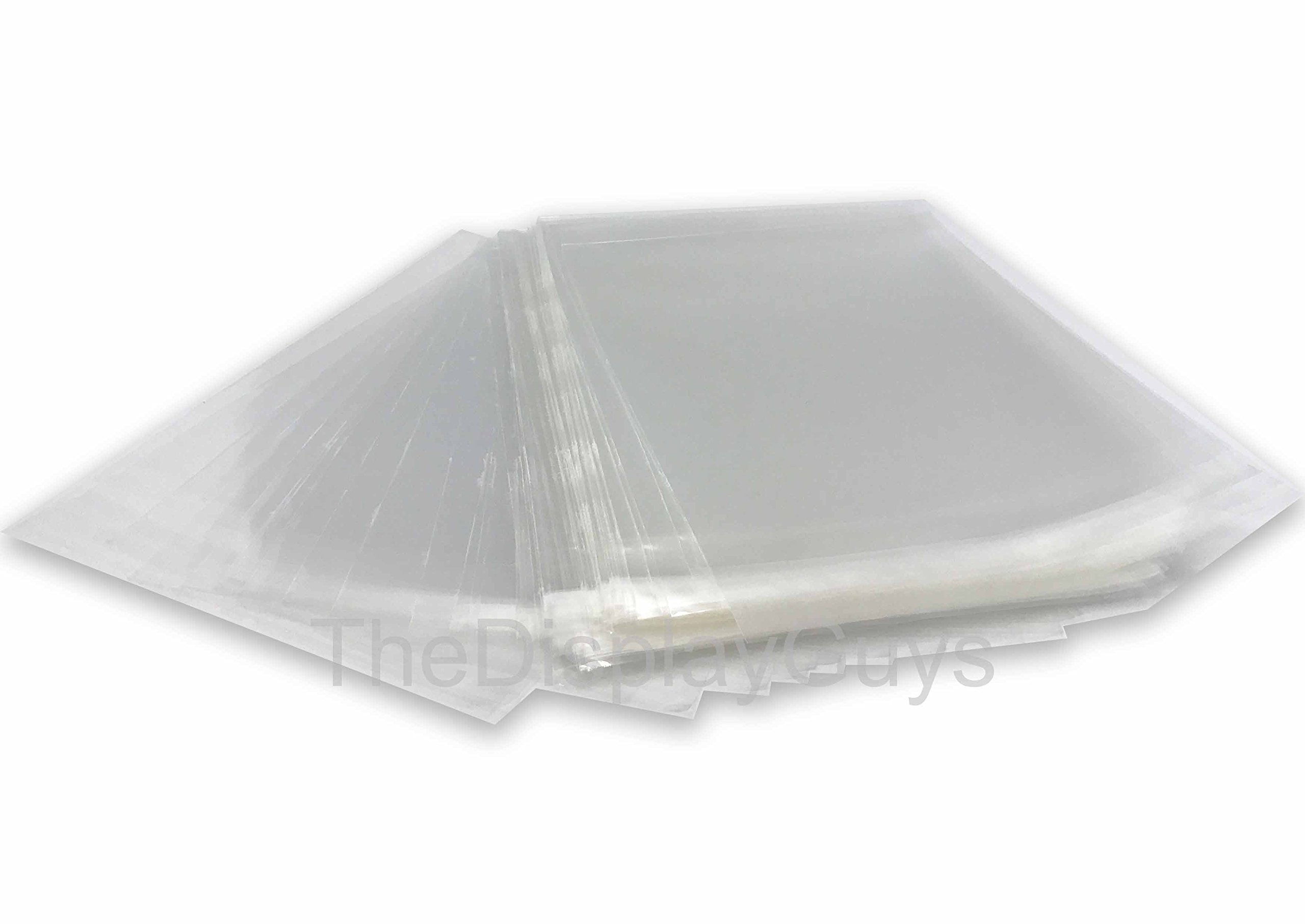 The Display Guys~ 100pcs 8 1/4 x 10 1/8 inch Clear Plastic Bags for 8x10'' Photo Picture Framing Mats Mattes