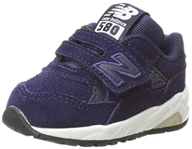 New Balance KV580, Baskets Mixte Enfant, Rouge (Burgundy), 28 EU