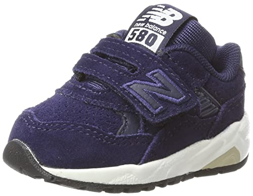 separation shoes f9e61 fb103 New Balance Unisex Kids  KV580 Trainers, Multicolour (Navy White), 1.5