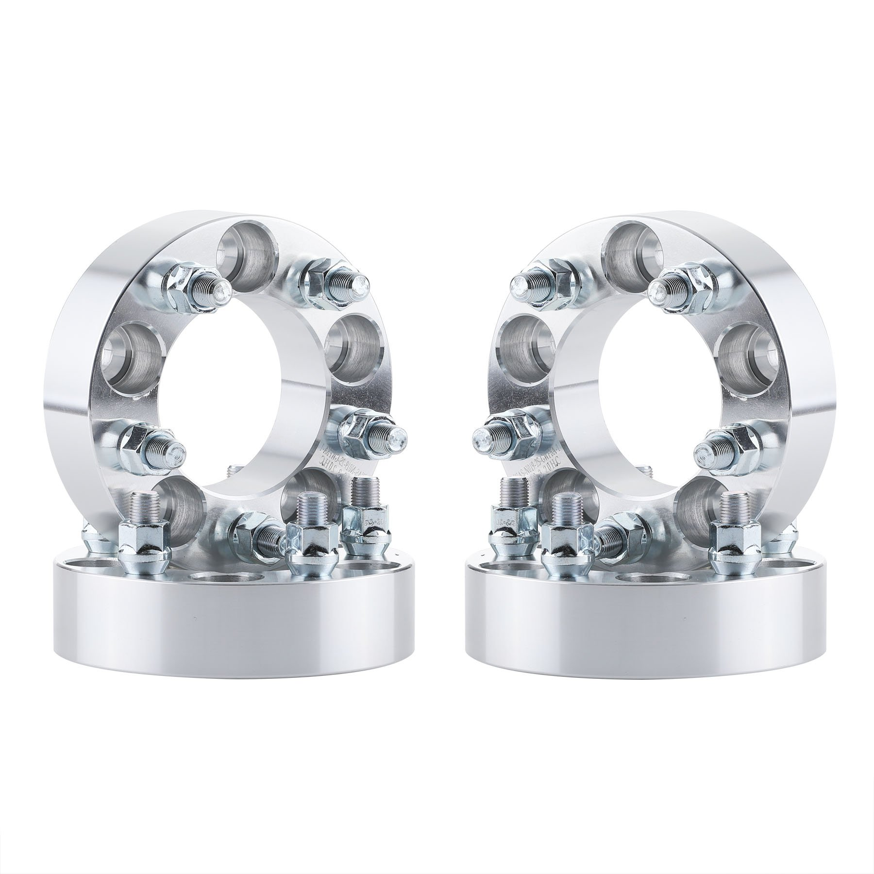 OrionMotorTech 5x4.5 Wheel Spacers 1.5 inches with 1/2-20 Studs, Compatible with Ford Ranger Explorer Mustang, Jeep Wrangler TJ Liberty KJ KK Grand Cherokee ZJ, 4pcs by OrionMotorTech