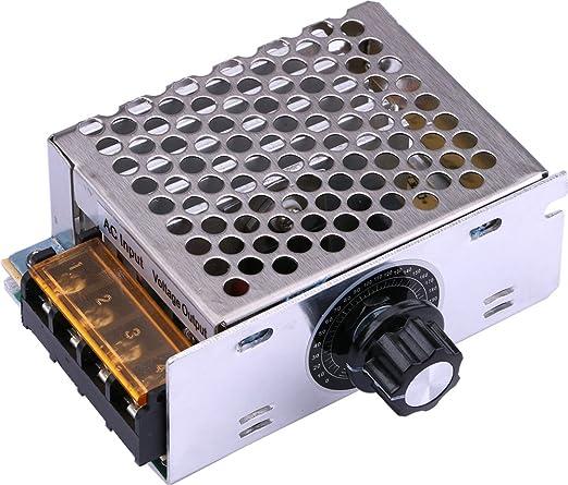 Yeeco AC 220 V 4000 W SCR Regulador de Voltaje de Electrónicos Regulador de la intensidad