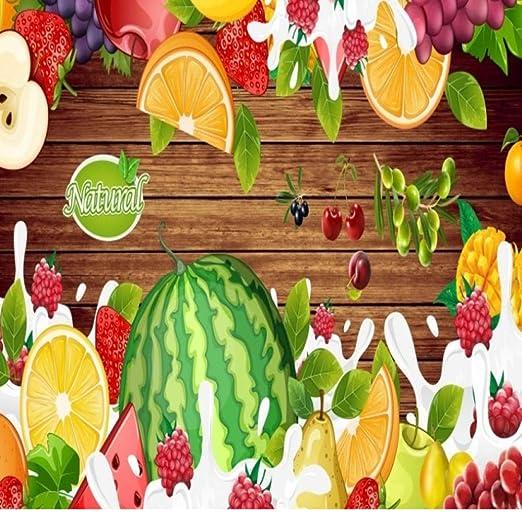 Papel Pintado Fotomural Fruta natural Fondo de Pantalla 3D ...
