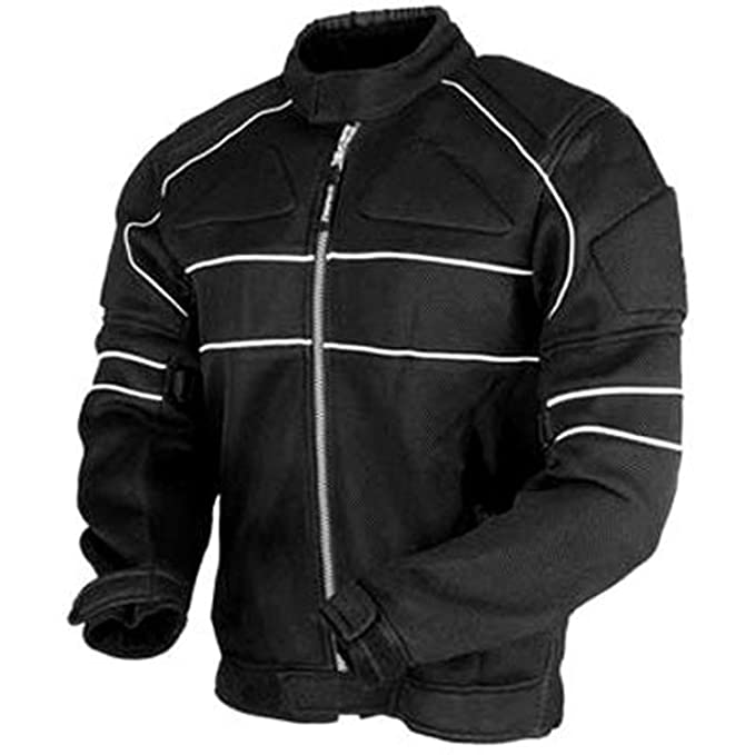 Juicy Trendz – Chaqueta Impermeable Moto Chaqueta de Cordura Motorcycle Jacket Black