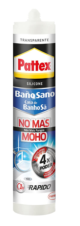 Pattex No mas moho, silicona antimoho e impermeable, transparente, 280ml Henkel