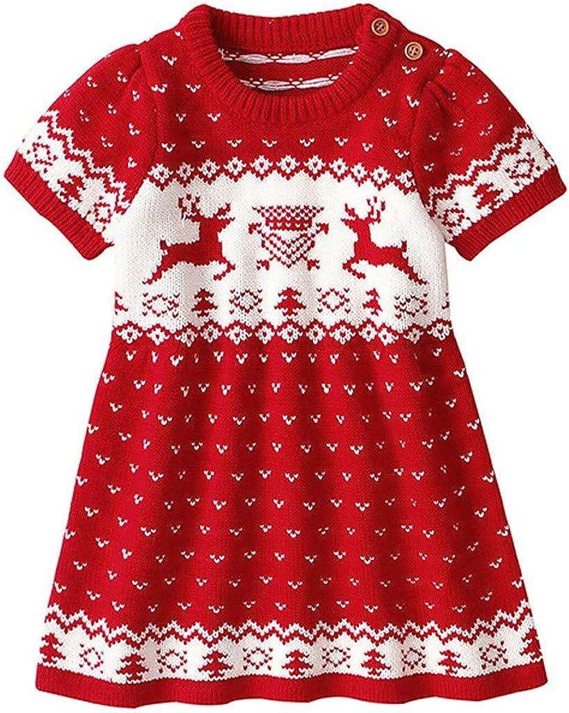 Pantaloni Natale Costume Santa Set del Partito del Vestito Pigiami da Regalo di Natale NUSGEAR Bambino Neonato Natalizi T-Shirt Manica Lunga con Stampa di Cervi