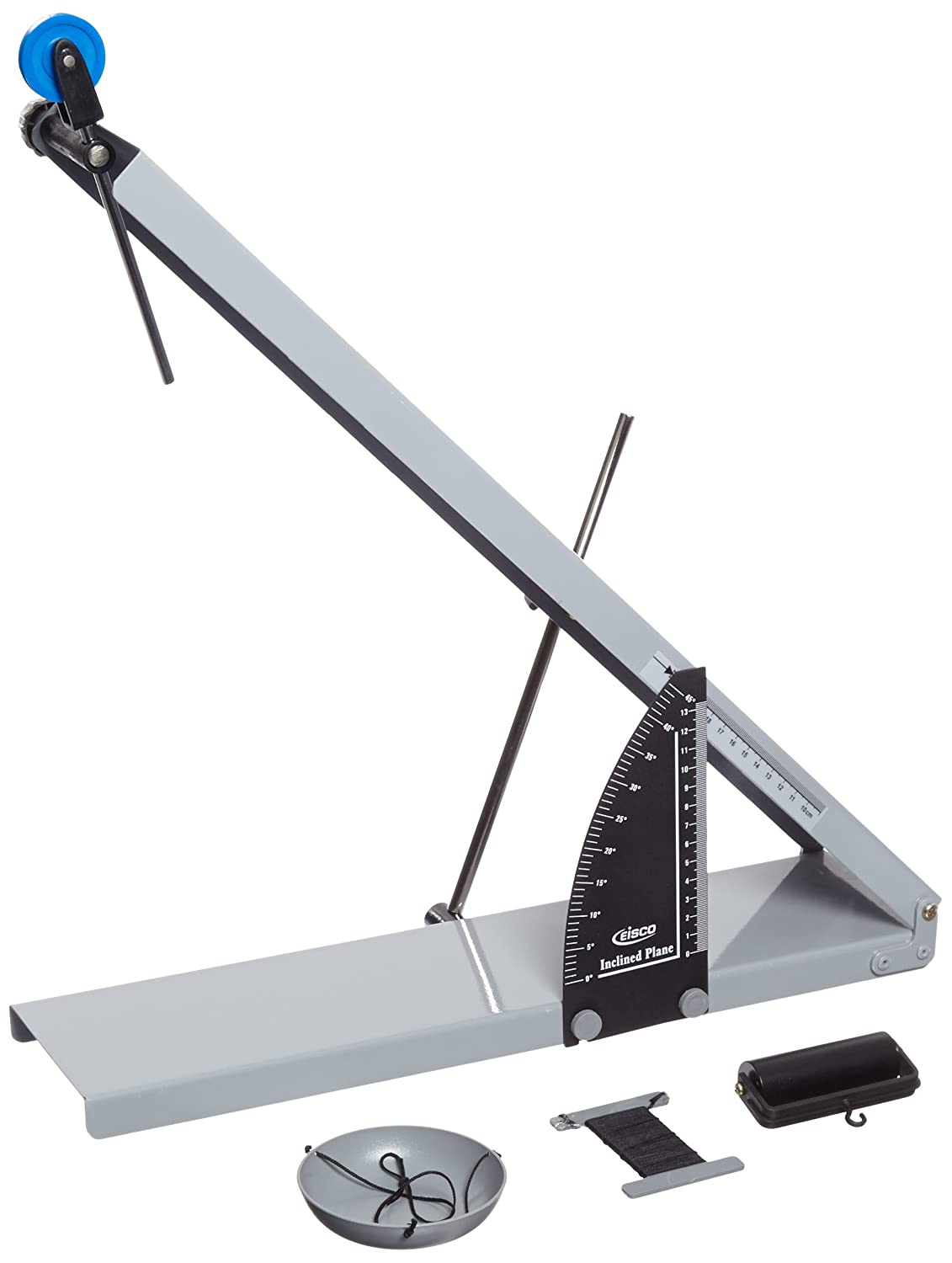 EISCO Steel Basic Inclined Plane with Pan and Roller