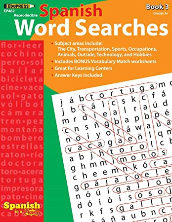 Edupress Spanish in a Flash Word Searches Book 3