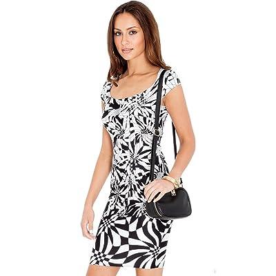 Goddess Leichtes Damen Sommerkleid mit Muster Markenware