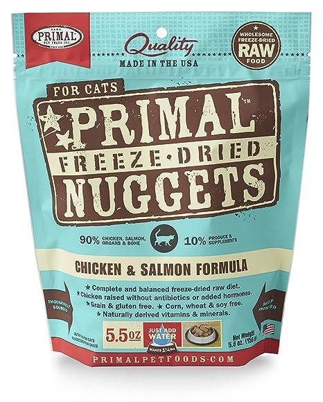 Primal Pet Foods Fórmula de pollo y salmón congelar y secar en la ...