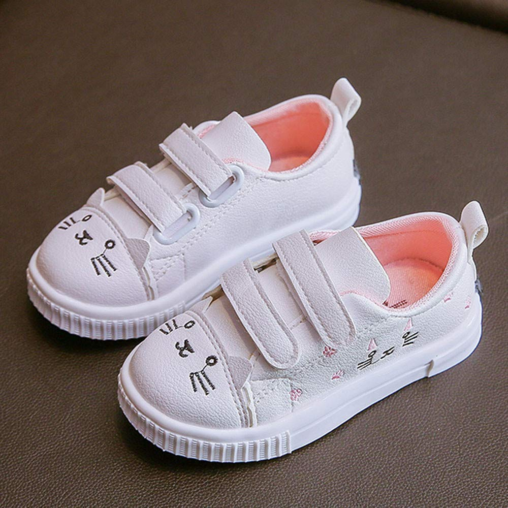 Kasien Baby Shoes, Kids Boys Girls Cat Sneakers Sports Running Shoes Baby Infant Casual Shoes (White, 6-12 Months) by Kasien (Image #2)