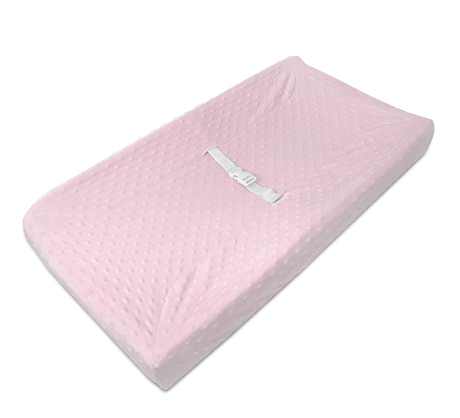 for Boys and Girls White Puff American Baby Company Heavenly Soft Minky Dot Fitted Contoured Changing Pad Cover