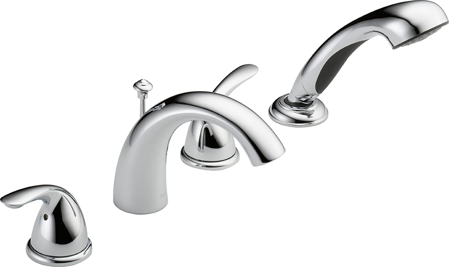 Delta T4705 Classic Roman Tub with Hand Shower Trim, Chrome (rough-in sold separately)