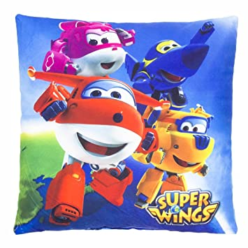 SUPER WINGS Flyer | Almohada 35 x 35 cm Niños Cojín ...
