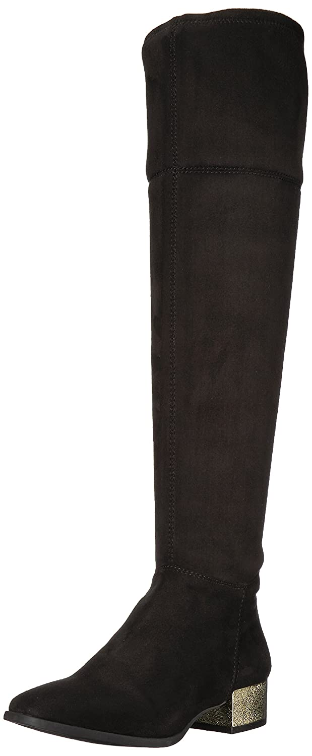 Anne Klein Women's Kimmie Fabric Fashion Boot B07693FXBG 8 B(M) US|Black Fabric