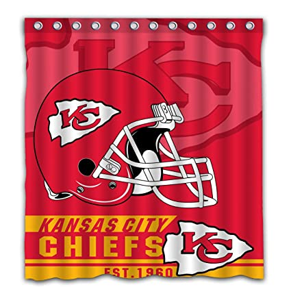 Image Unavailable Not Available For Color Felikey Custom Kansas City Chiefs Waterproof Mildew Proof Shower Curtain