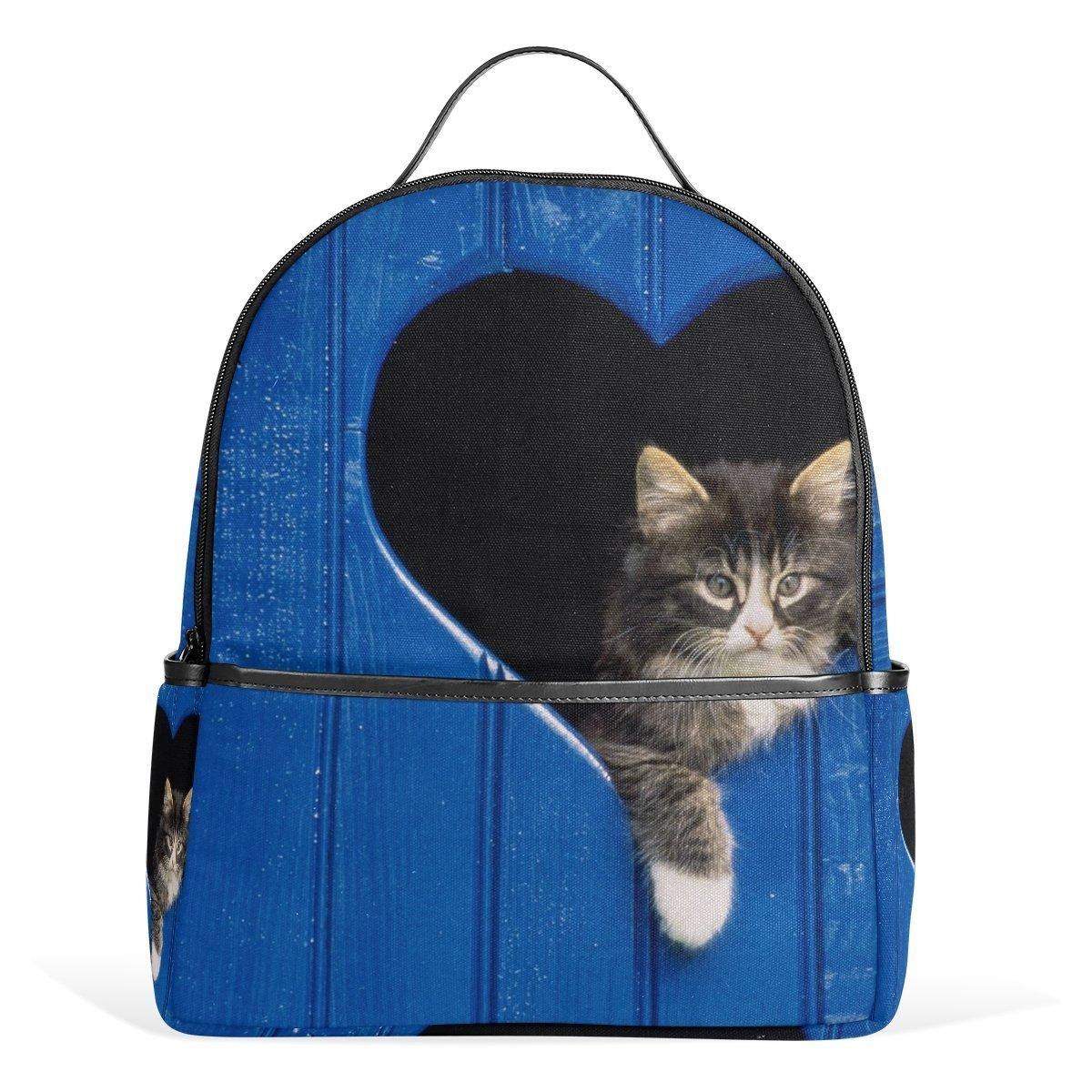 学校バックパックかわいい猫旅行バッグfor Teenagers Boys Girls   B07G2YNTCT