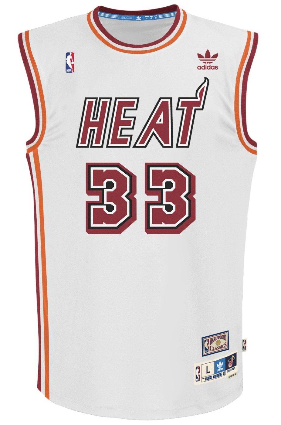 Alonzo Mourning Miami Heat Adidas NBA Throwback Swingman Jersey - White   Amazon.co.uk  Sports   Outdoors 530526543