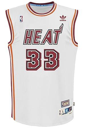 b7bc824c152 Alonzo Mourning Miami Heat Adidas NBA Throwback Swingman Jersey - White