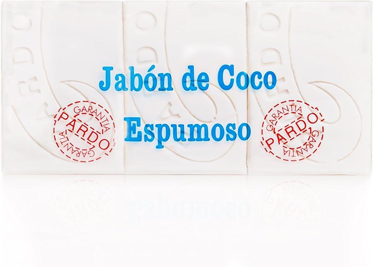 Pardo Jabón Natural Coco Blanco - Paquete de 3 x 250 gr - Total ...