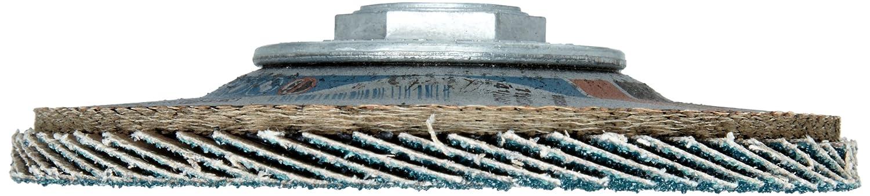 4-1//2 Dia. Threaded Hole Zirconia Alumina 4-1//2 Dia. PFERD Polifan SG Abrasive Flap Disc Phenolic Resin Backing 40 Grit Pack of 1 Type 27
