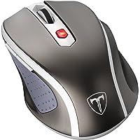 VicTsing Mouse/Ratón Inalámbrico Óptico, 2.4G Móvil, con Receptor Nano, 6 Buttons, 2400DPI, 5 Niveles de dpi Ajustable – Color Gris