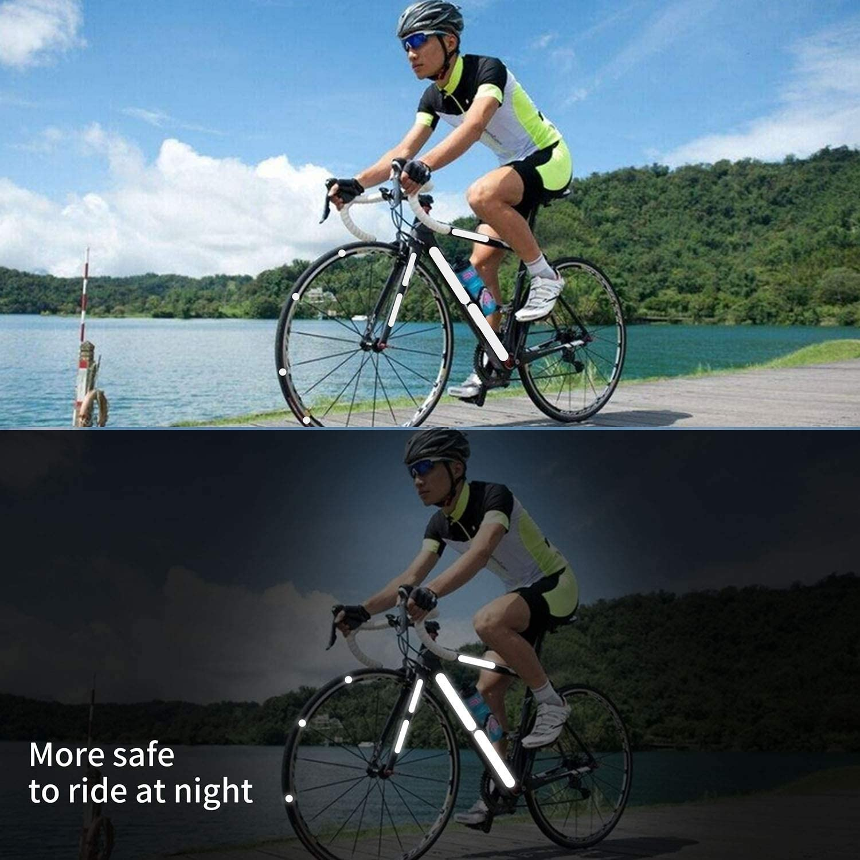 Motorrad Kinderwagen etc. Auto Reflektierende Aufkleber reflektierende Aufkleber f/ür Fahrradhelme 21 St/ück