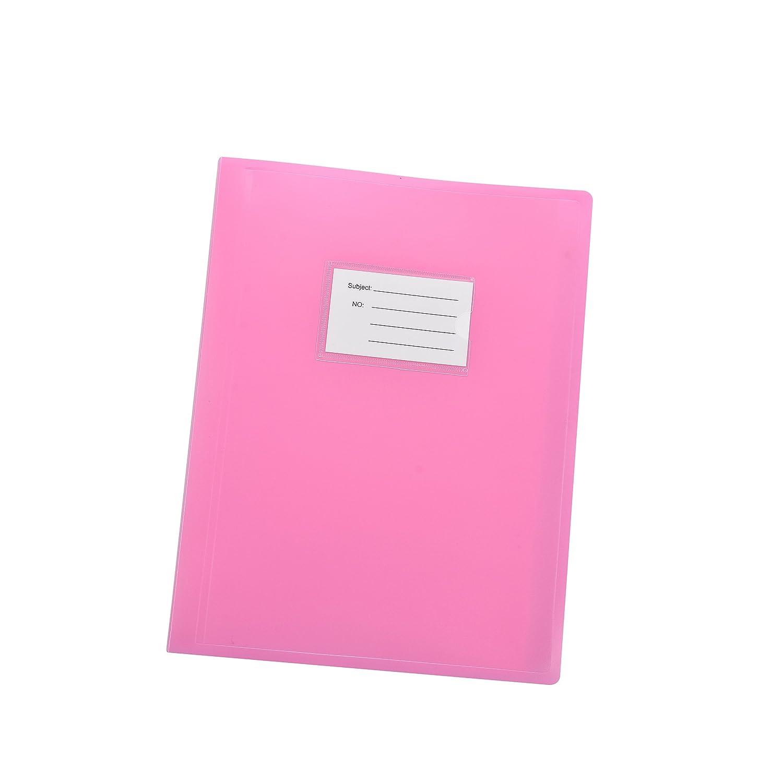 Arpan A4 104 tasche 208 / Lati Visualizza portafoglio Libro Presentazione Cartella copertura flessibile - Rosa DB10PK-OR