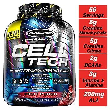 MuscleTech 2 72Kg Fruit Punch Cell-Tech Supplement