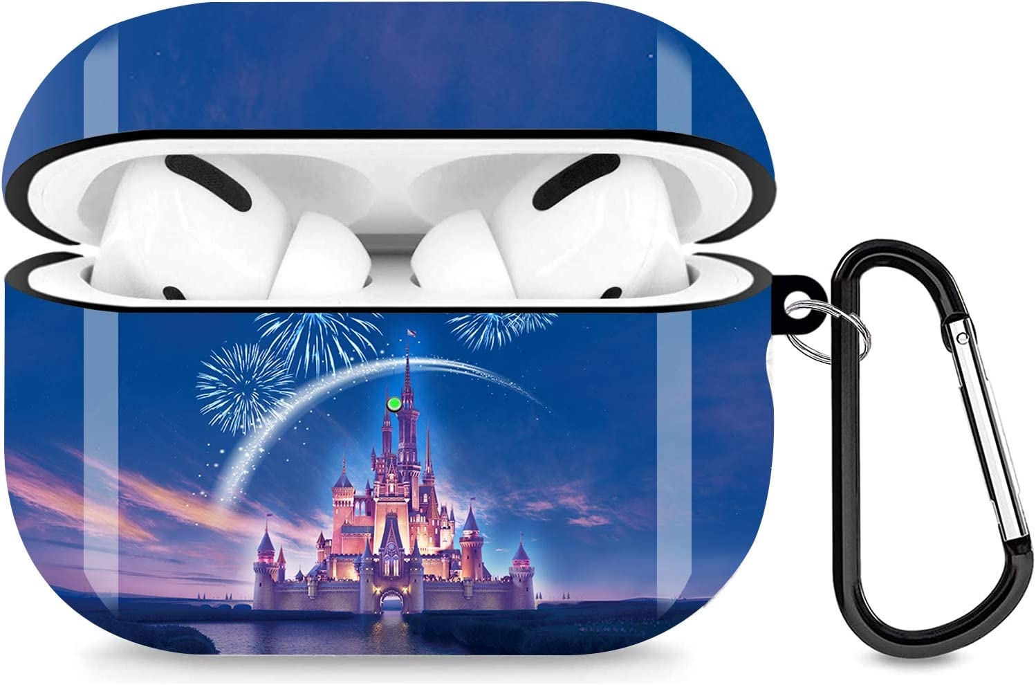 Disney Castle Airpods Pro Case Personalise Custom, Airpods Pro Case Cover Compatiable with Apple Airpods Pro Case (2019),Full Protective Durable Shockproof Drop Proof with Keychain Compatible