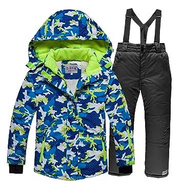 7ae5603170e7 YFCH Kids Winter Outdoor Ski Suit Skiing Jackets Set Children Sports ...