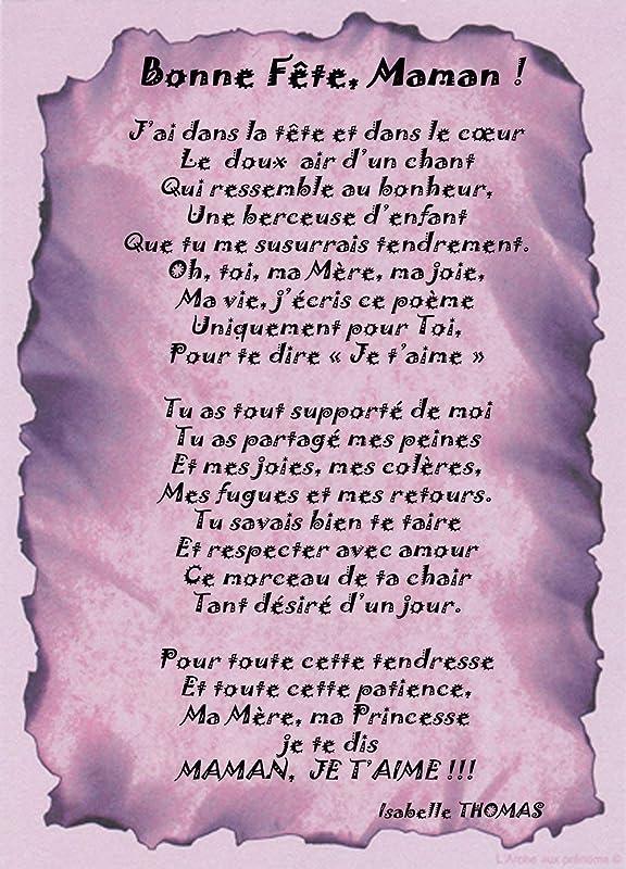 Poème Bonne Fête Maman Jai Dans La Tête Et Dans Le Coeur