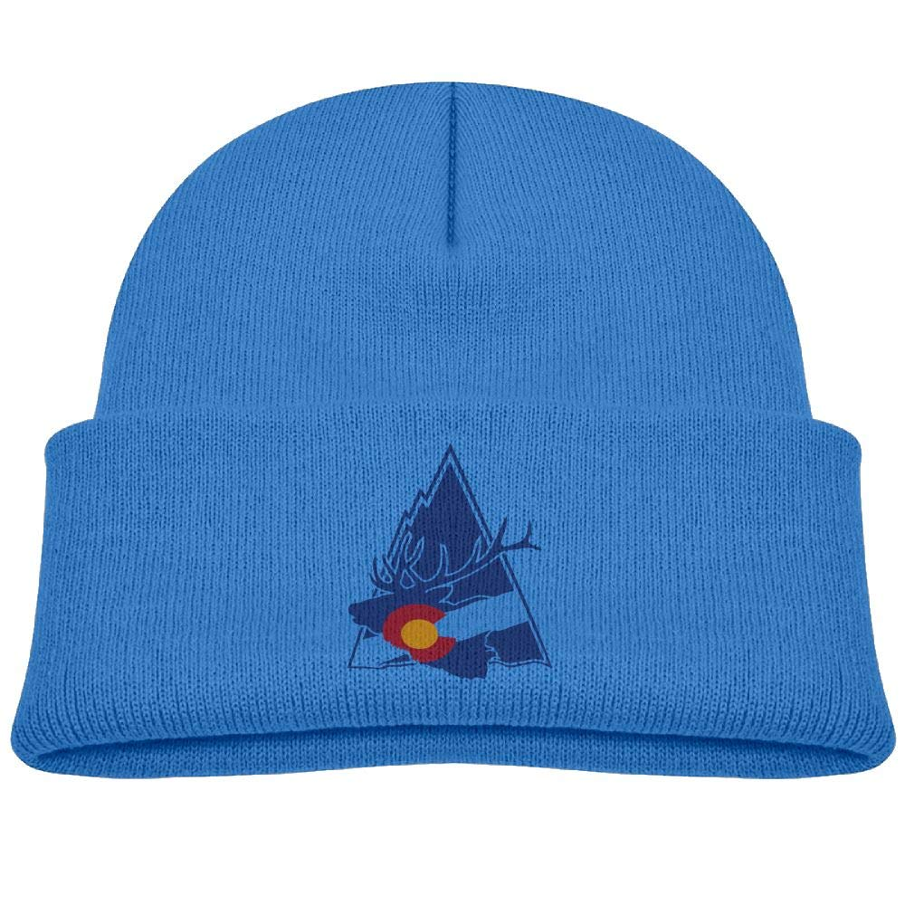 Colorado Elk Mountain Infant Skull Hats Baby Boys Beanie Caps