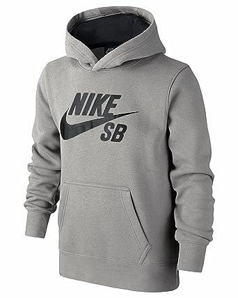 Nike SB Kinder Pullover Langärmlig Kapuzenpulli Grau 977824-042 ...